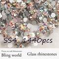 Promation! стеклянные Rhinestones 1440 шт. SS4 Кристл AB Nail Art Стразы Для Сотового Телефона И DIY Дизайн