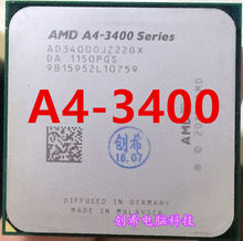 AMD A4 3400 Dual-core FM1 2.7GHz 1MB 65W CPU processor pieces A4-3400 APU Integrated graphics,A4 3400(China)