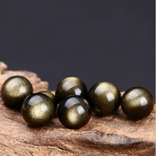 Top quality Natural Stone Black Golden Obsidian beads Round Loose bead Stone ball 6/8/10/12/14MM For Jewelry bracelet Making L3