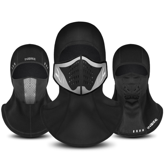 Winter Bicycle Face Mask Cap Ski Bike Mask Face Thermal Fleece Snowboard  Shield Hat Cold Headwear 0208a83b3