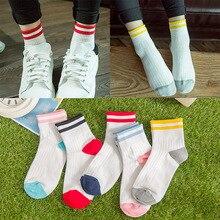 ФОТО socks fashion two bars stripe socks casual all-match cotton designer socks b37