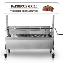 BBQ Grill Motor Charcoal  BBQ Spit Roaster Rotisserie Barbeque Machine Multifunctional Stainless Steel Electric Barbecue Grill best price electric grill pan stainless steel roaster fried meat pancake making machine for home commercial use