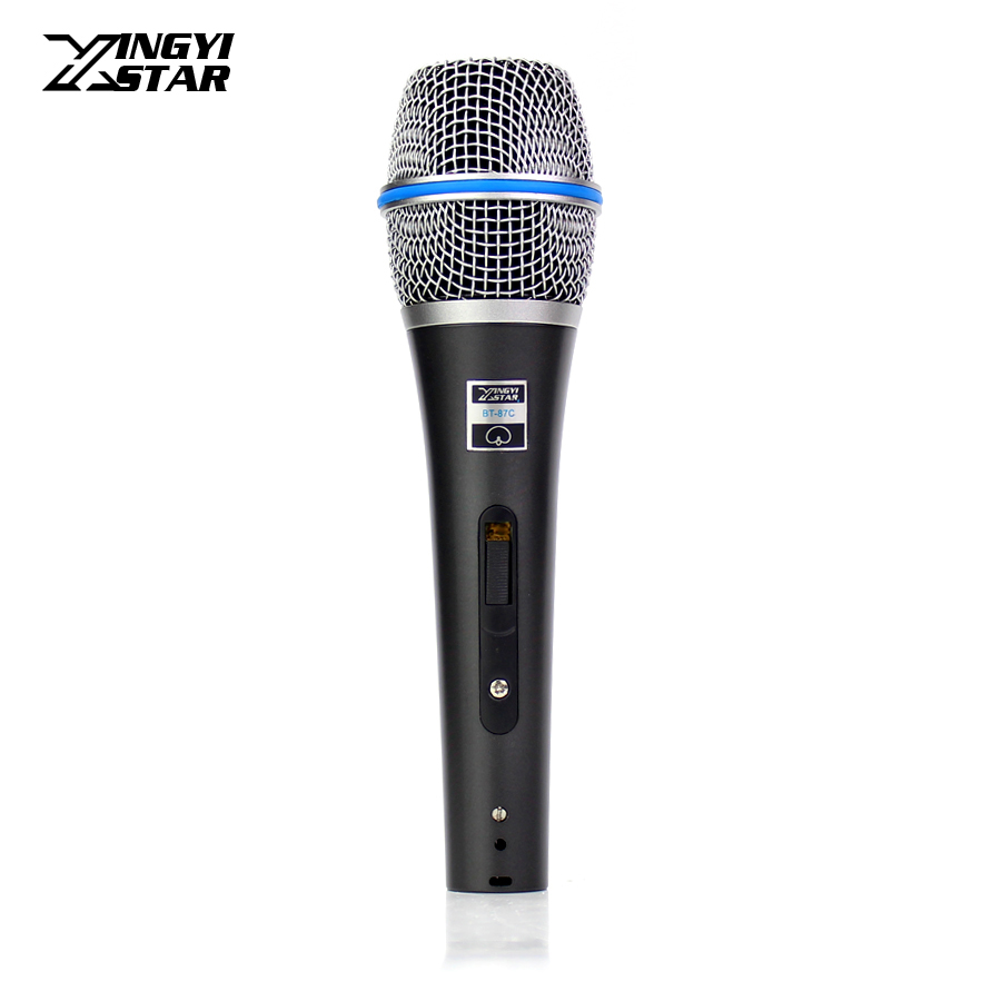 BT-87C Switch Professional Handheld Mic Vocal Dynamic Microphone System For Beta 87C Karaoke Youtube Amplifier Speaking Lectures