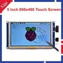 5 дюймов LCD HDMI Сенсорный Экран TFT 800*480 для Banana Pi Малины Pi 3/2 Модель B/B + подключи и играй бесплатно драйвер