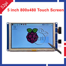 5 inch LCD HDMI Touch Screen Display TFT  800*480 for Banana Pi Raspberry Pi 3 / 2 Model B / B+ plug and play free driver