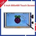 5 pulgadas LCD HDMI Pantalla Táctil TFT 800*480 de Plátano Pi Frambuesa Pi 3/2 Modelo B/B + plug and play sin conductor