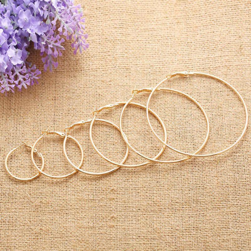 Trendy Hoop Earrings Big Smooth Circle Earrings New Brand Loop Hyperbole Earrings for Women Jewelry Accessories Gifts