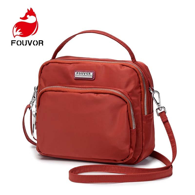 Fouvor Luxury Fashion Women Messenger Bags Nylon Casual Clutch Carteira Designer Handbag Crossbody Bag for Ladies