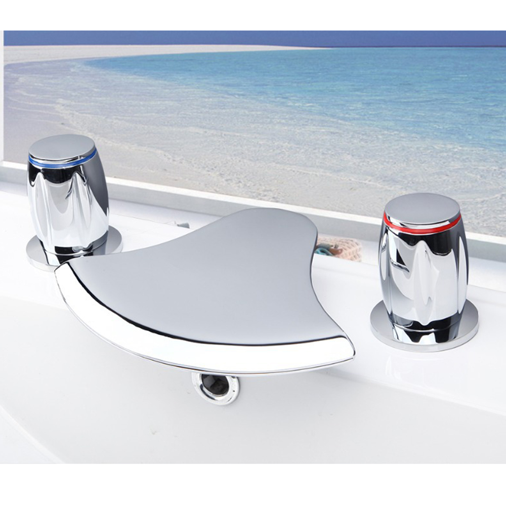 Contemporary Superior in Quality Waterfall Basin Faucet Chrome Polished Dual Handle Hot Cold Water Mixer Eminent Basin Faucet multicultural questions family matters in contemporary fiction