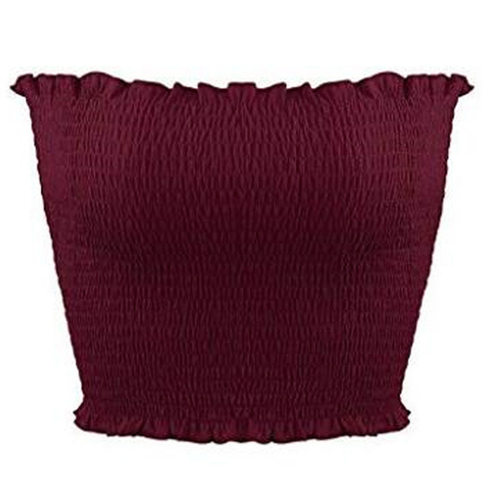 JSMY Women Wrap Chest Tube Top Sexy Summer New Solid Color Slim Elastic Ruched Strapless Short Vest Sleeveless Top in Tank Tops from Women 39 s Clothing