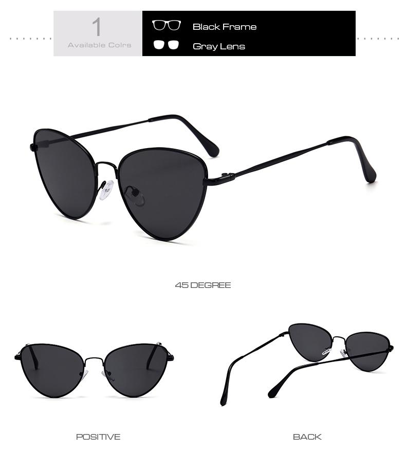 Gafas de sol de ojo de gato Vintage pequeñas y sexis para mujer 5