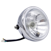 цены Motorcycle Refit Headlight Vintage Round Motorcycle Head Light DC 12V Scooter Motorbike Motor Front Headlights Lamp Universal