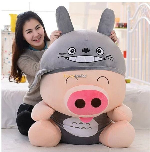 Fancytrader 37\'\' 95cm Super Lovely Soft PlusH Stuffed Giant McDull Pig, 3 Cartoon Models, Free Shipping FT50732 (5)