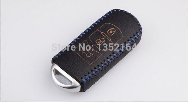 Skórzane etui na klucze, automatyczny uchwyt na klucze, kluczowy - Akcesoria do wnętrza samochodu - Zdjęcie 3