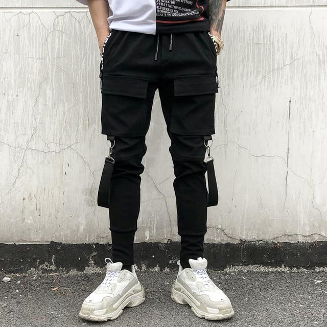 Street Dropshipping Pantalon Hommes High Skinny Nouveau 2018 Bretelles Double ITqSw8p