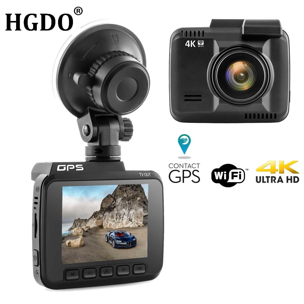 HGDO WiFi Car DVRs Recorder 4K 2160P Dash Cam Novatek 96660 Car Camera with GPS Camcorder Autoregistrator Night Vision Dashcam