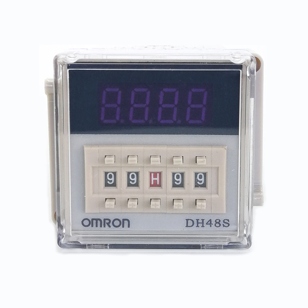 OMRON คุณภาพสูง DH48S-2Z Timer ดิจิตอลรีเลย์ 0.01s - 99h99m ชั่วโมง Delay  Relay