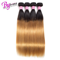 Brazilian 1/3/4 Hair Weave Bundles 100% Remy Human Hair Bundles T1B/27 Ombre Straight Hair Bundle Deals Free Shipping