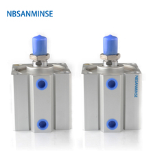 NBSANMINSE SDA With Magnet Bore 100mm  Compact Cylinder AirTAC Type Double Acting Pneumatic
