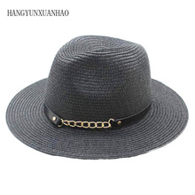 Panama Hat Summer Sun Hats For Women Man Beach Straw Hat For Men UV Protection Cap Chapeau Femme Visor Cap 2019 sun hats modis m181a00735 man summer hat for famale beach for male tmallfs