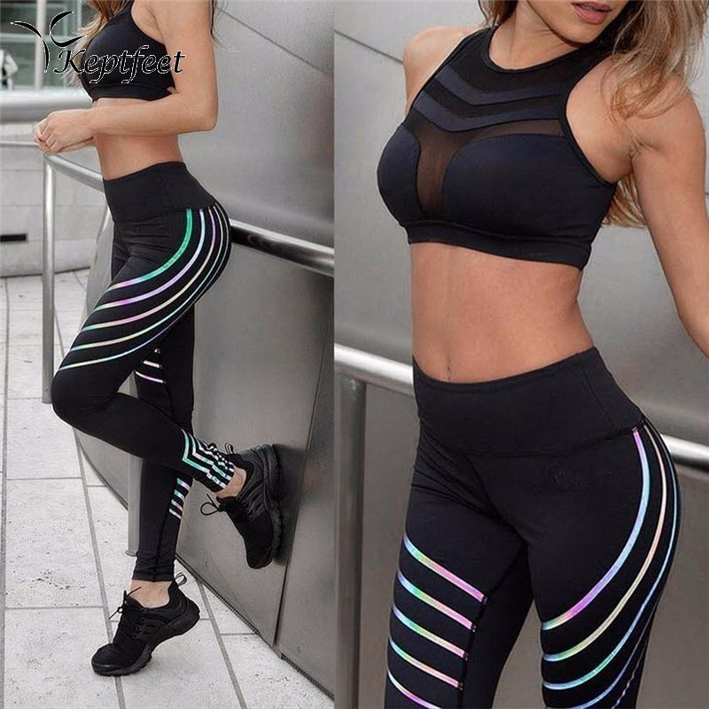 Women Yoga Waist Fitness Leggings Running Gym Stretch Sports Pant Trousers New