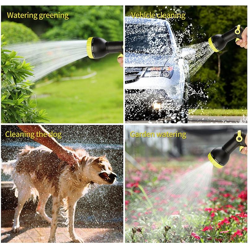 Garden Hose Expandable Magic Flexible High Pressure Car Wash Spray Gun 3 Times Telescopic Garden Watering Hose With Spray Gun 6