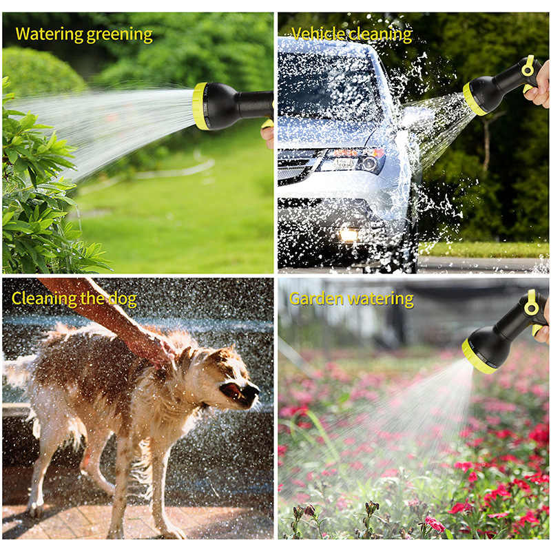 Mangueira de jardim expansível magia flexível de alta pressão pistola de lavagem de carro 3 vezes telescópica mangueira de rega de jardim com pistola de pulverização