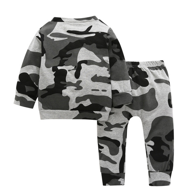18M-4T Boys Clothing Sets Camo Tops + Trousers Clothes for Boys 2018 Autumn Two Piece Kids Clothes Sets Children Clothing