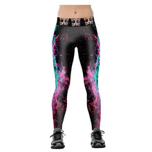 S-4XL 2017 Fashion Design Color Star Digital Printing Women Sporting Leggings Fitness Jeggings Clothes For Female Runs Pants