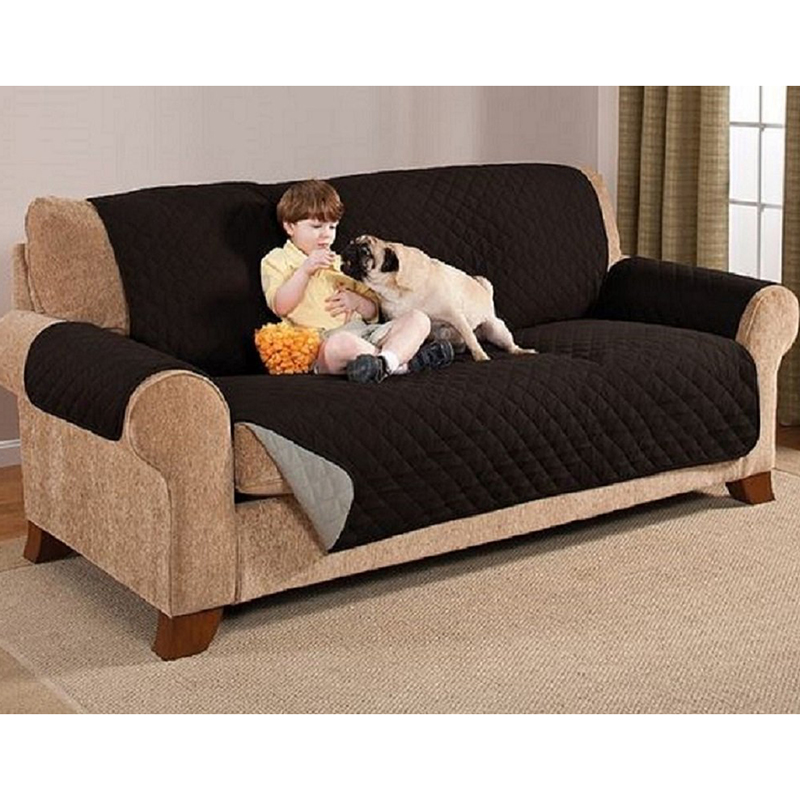 2 seater love chair wheel battery 1pcs arm two seat sofa slipcovers pet dog couch protector home textile ...
