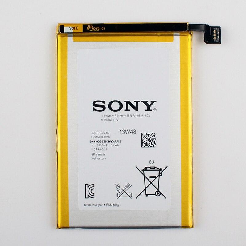 imágenes para Original sony lis1501erpc batería para sony xperia zl l35h zq l35i c6502 c6503 c6506 2330 mah