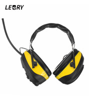 LEORY NRR 28dB Electronic Earphones Hearing Protector AM FM Radio With Screen Earmuffs Electronic Shooting Earmuff