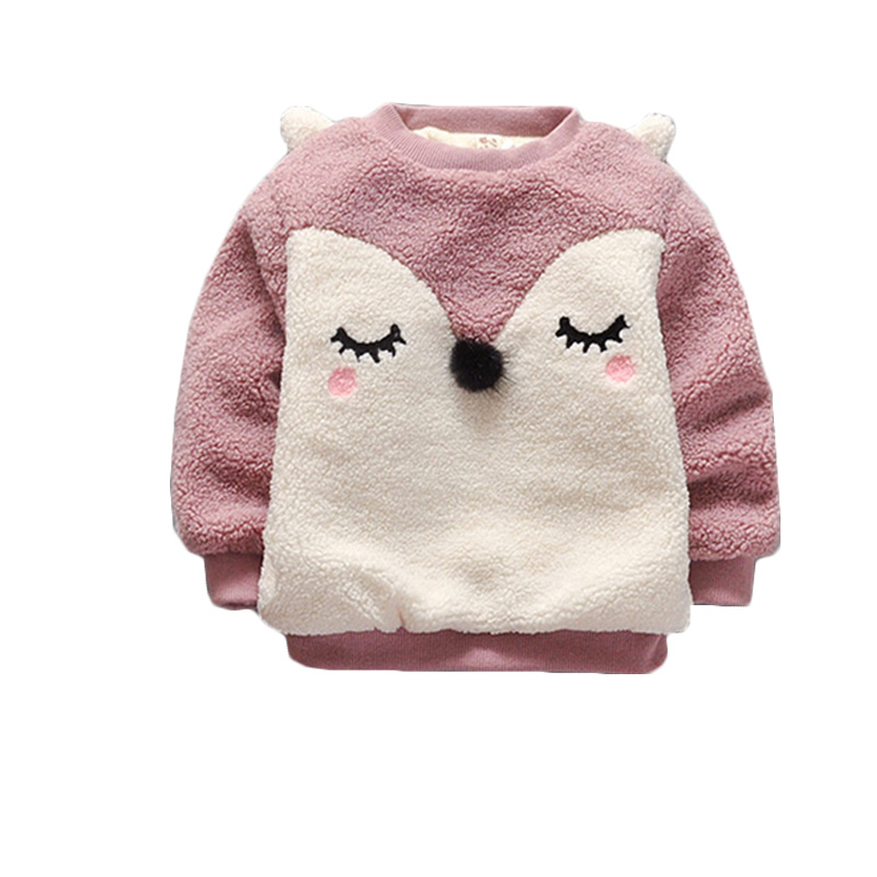 Winter Children Girls Clothes Warm Toddle Bebes Cloak Outwear Bird Print Thicken Coat For Infant Hooded Coats Cute Outerwear