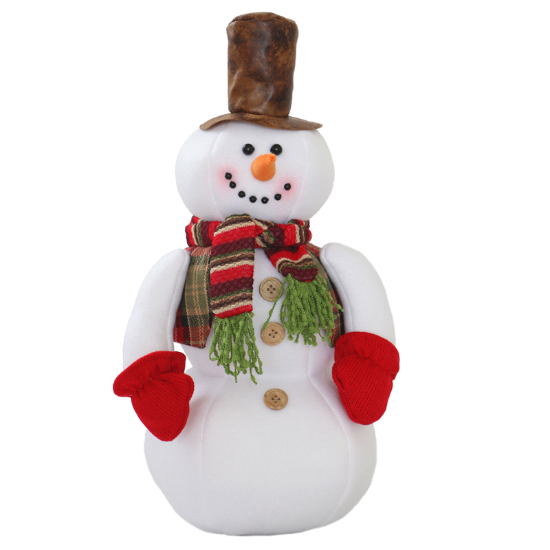 45cm Christmas dolls Cute Christmas gift snowman dolls with hat xmas gift christmas decorations for tree stuffed plush doll