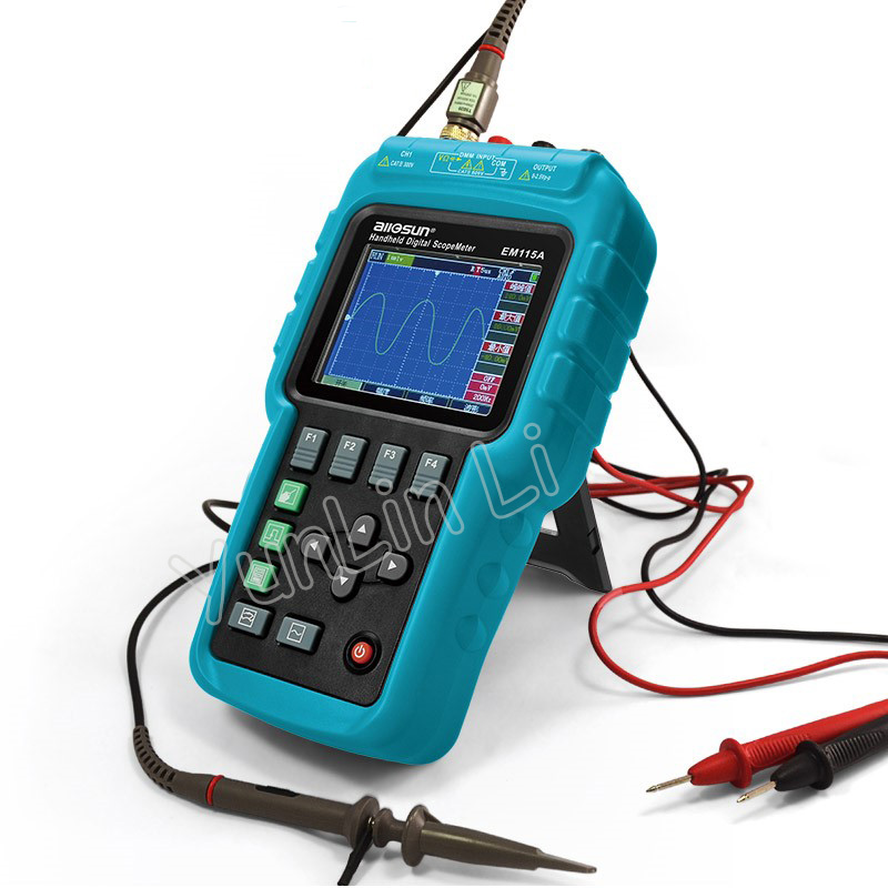 Профессиональный портативный цифровой осциллограф + мультиметр + генератор сигнала USB цветной ЖК дисплей
