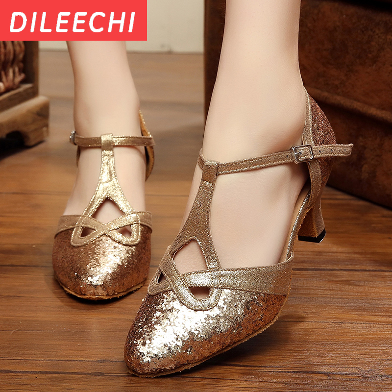 Latin dance shoes soft outsole square Ballroom dancing shoes Modern tango shoes
