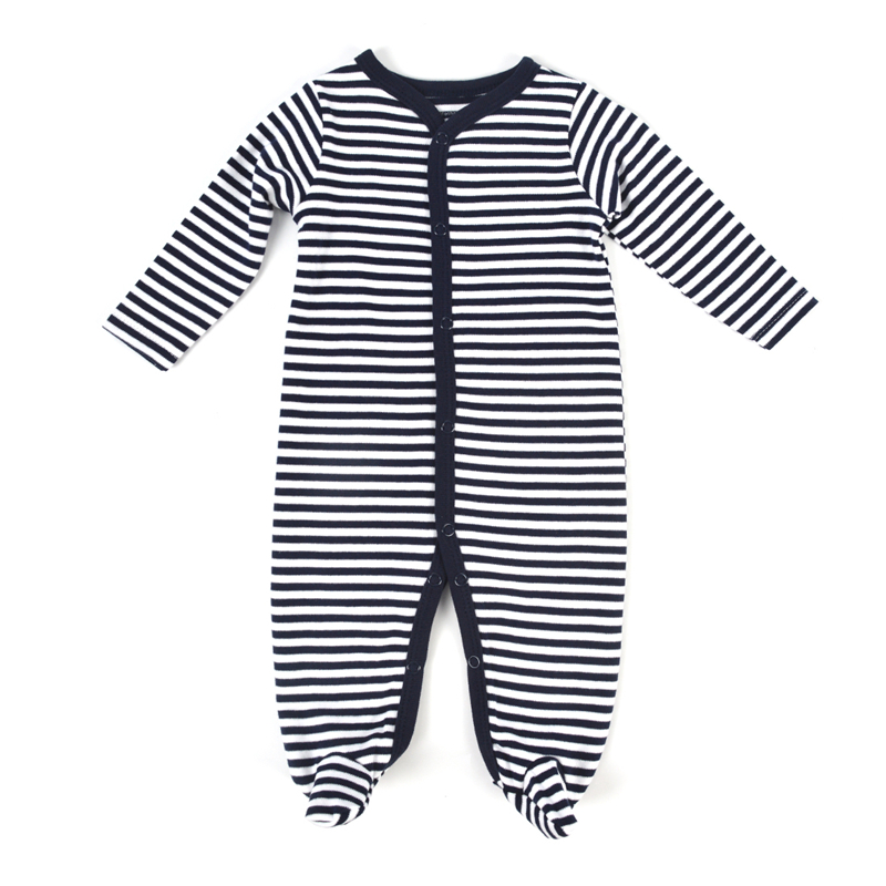 Newborn Baby Romper Long Sleeve Cotton Body Baby Boy Girl Clothes Black Stripped Autumn Kids Outfits Jumpsuit Infant Clothing 40 newborn infant baby girl cotton clothes romper long sleeve plaid zipper cute jumpsuit rompers clothing outfits