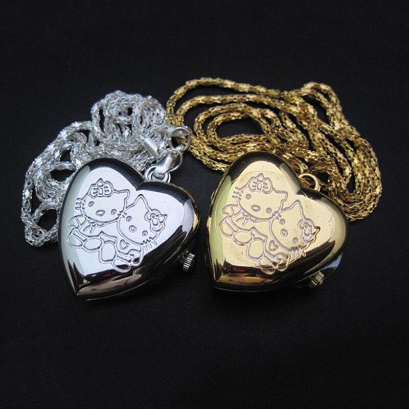 #5001 Retro Bronze Legierung Aushöhlen Herz Tasche Halskette Uhr Weihnachten Geschenk Dropshipping Neue Ankunft Freeshipping Heiße Verkäufe Schnelle Farbe Tasche & Fob Uhren