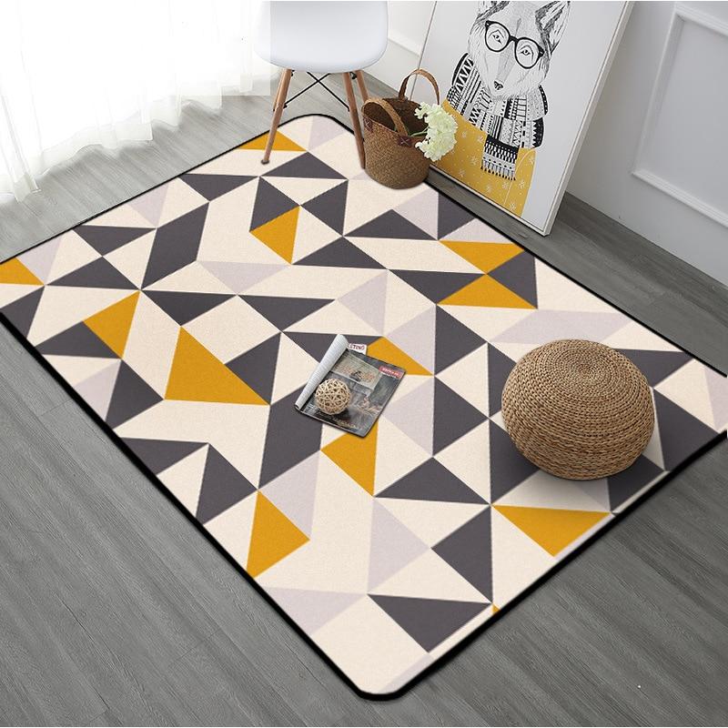 Tapis Rectangle géométrique européen pour salon enfants chambre tapis et tapis ordinateur chaise tapis de sol tapis de vestiaire