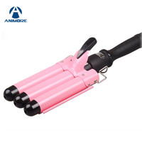 ANIMORE LCD Professional Hair Curling For Big Wave Iron Automatic Perm Splint Curler Waver Curlers Rollers