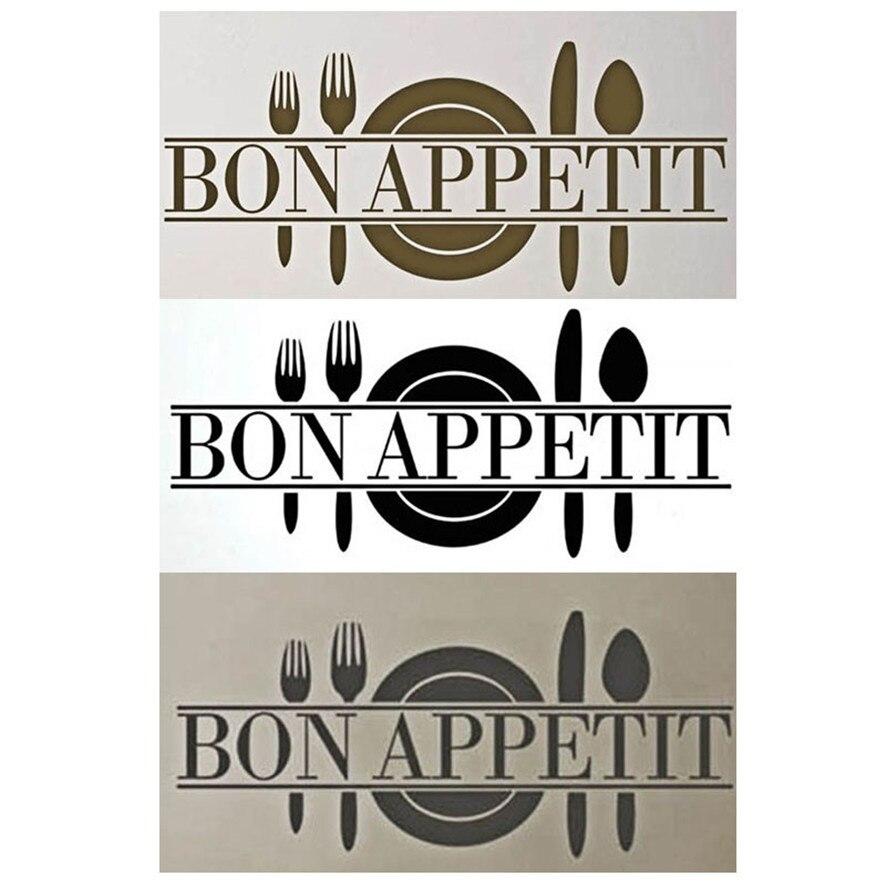 Zero 2017 Bon Appetit Art Quote Living Room Kitchen Vinyl Wall Mural Decal  Sticker Cheap Inexpensive Purchasing B777
