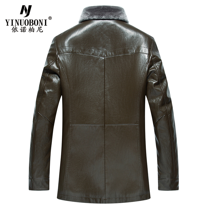 2017 Winter Men Faux Leather Jacket Men Cashmere Casual Dress Men ...