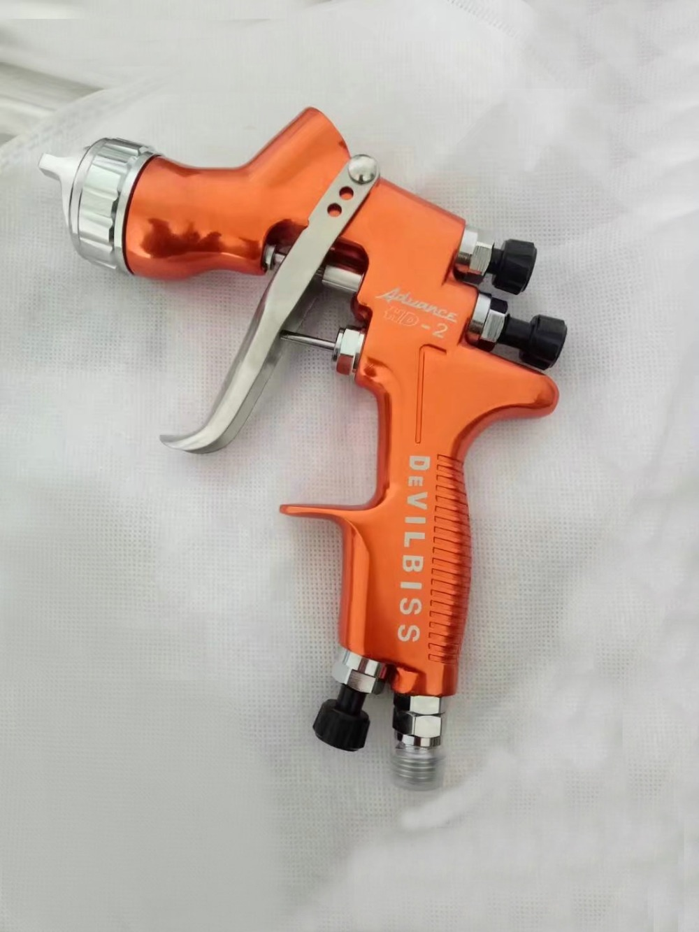 HVLP Devilbiss Spray Gun Gravity Feed for all Auto Paint ,Topcoat and Touch-Up with 600cc Plastic Paint Cup hvlp spray gun gravity feed car paint spray gun 1 3 noozle airbrush devilbiss car painting tools