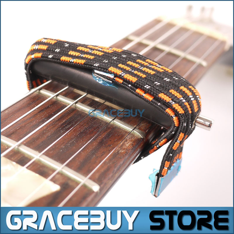 Guitar Capo on/with/for Folk/Classical/Electric Guitar Capotrast Elastic Multifunctional Spreading 8x utility guitar accessory footstool strap neck rest for folk and classical guitar