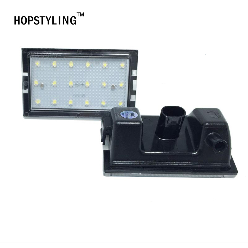 Error Free 18SMD LED number license plate lights bulb for Land Rover discovery3/4 Freelander 2 Rang Rover Sport  car-styling leather car seat covers for land rover discovery sport freelander range sport evoque defender car accessories styling