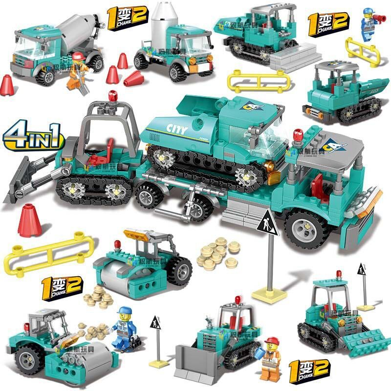 462pcs  Engineering Excavator Bulldozer Vehicles Building Blocks Compatible LegoING City Truck Construction Toys For Children   462pcs  Engineering Excavator Bulldozer Vehicles Building Blocks Compatible LegoING City Truck Construction Toys For Children