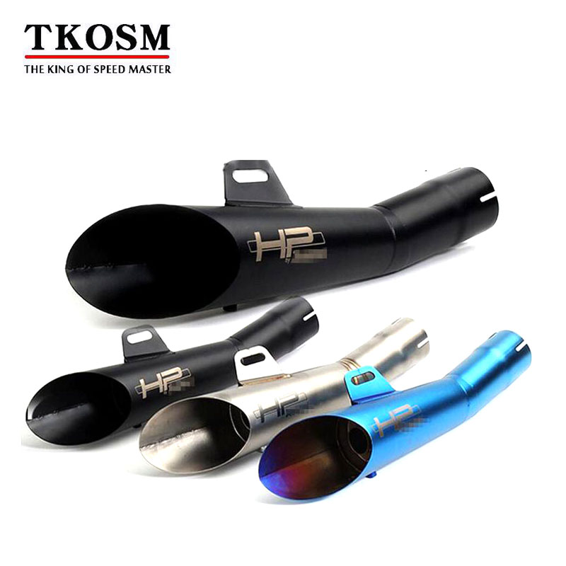 TKOSM Universal Escape Motorcycle Motorcross Scooter Exhaust Pipe Muffler ATV Accessory For KTM Z750 R1 R3 R6 MT03 Slip-on Motor
