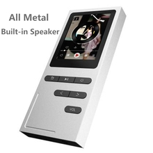 New Metal MP3 Player Built-in Speaker Portable 1.8 inch with FM Radio E-book Recorder 8G Memory Storage Lossless Music Player