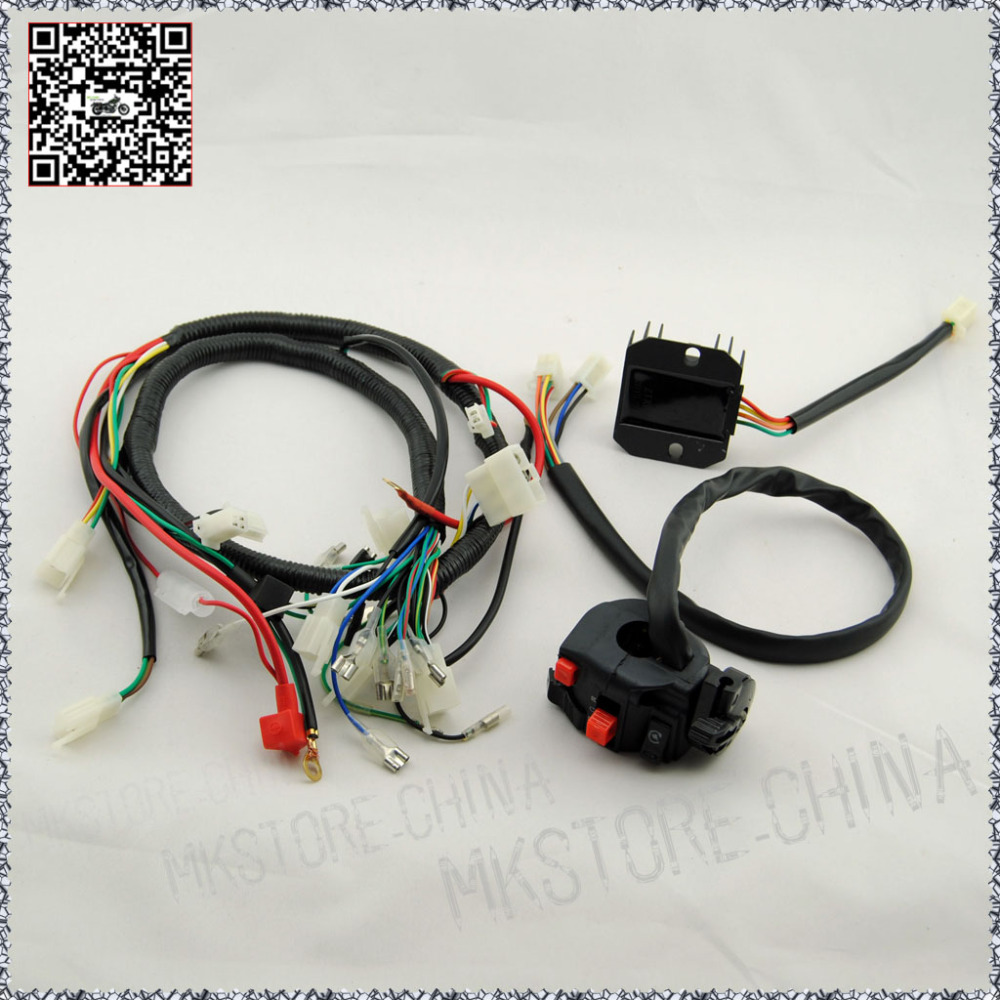 250cc rectifier switch quad wiring harness 200 250cc. Black Bedroom Furniture Sets. Home Design Ideas