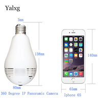 Yalxg New IP Wifi Security Home Light Bulb Wireless Lamp Camera Discounts Support Voice Intercom P2P